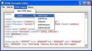 HTML Portable Editor, un éditeur HTML portable