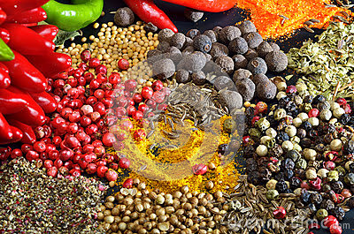 Colorful Spices Stoc