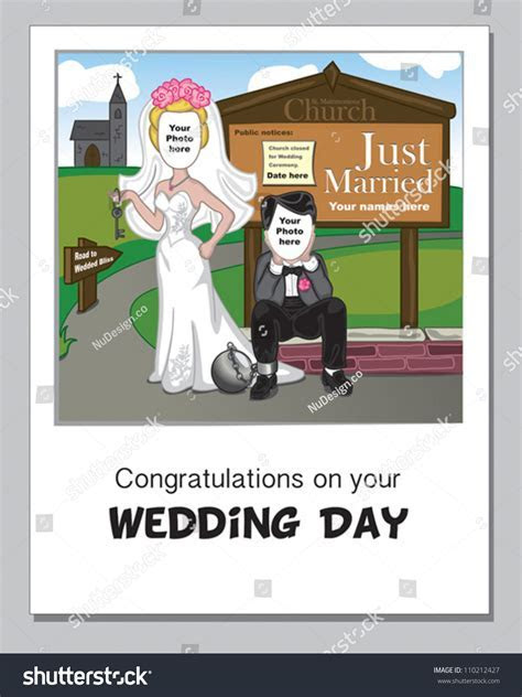 Funny Wedding Day Greeting Card. Simply Add Your Own