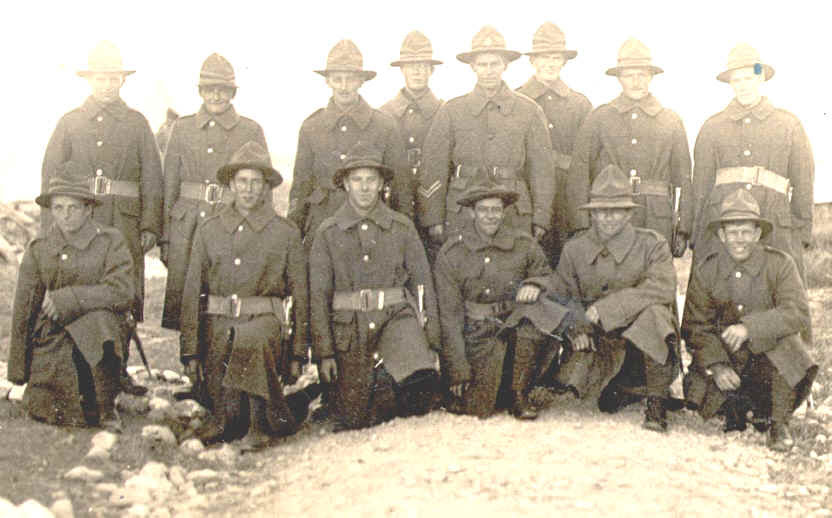 """These soldiers are mostly wearing the rarer WW1 era 3"""" webbing belt (with"""