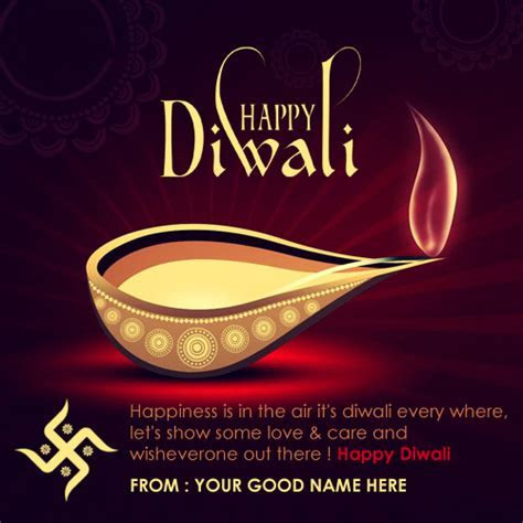Happy Diwali wishes in English with Name ? Write name on image