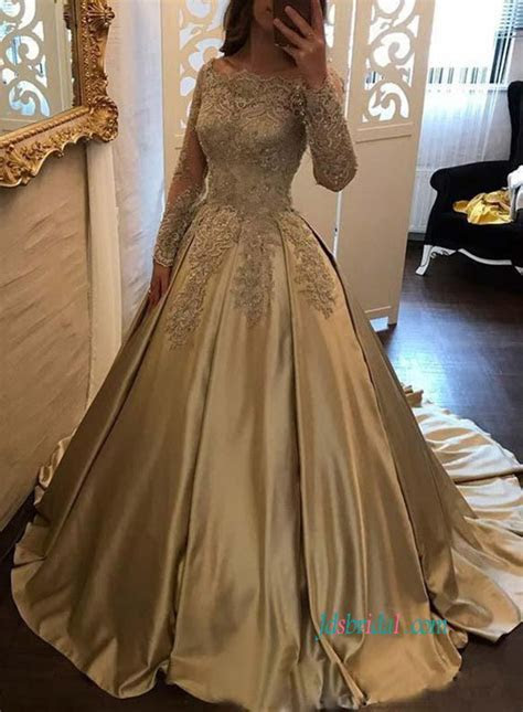 Gold/Champagne Colored wedding dresses,Cheap sparkly bling
