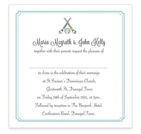 GAA Flat wedding invitation   Donegal vs Dublin   Loving