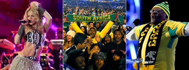 Diversidade musical e promessas pela educação abrem a Copa do Mundo (Editoria de Arte/GLOBOESPORTE.COM)