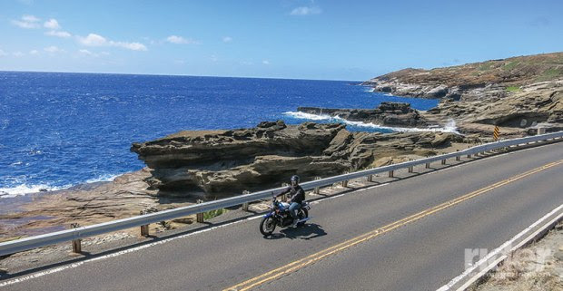 The ride along the rocky southern tip of the island leaves no doubt of the power of the Pacific.