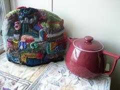 tea pot and tea cosy