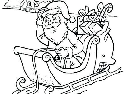 santa sleigh coloring pages printable at getdrawings  free download