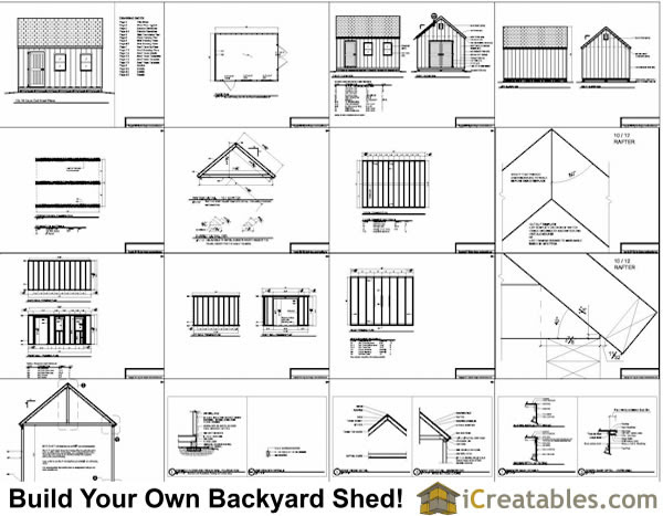 12x16 Shed Plans And Material List Free Diy Shed Plans