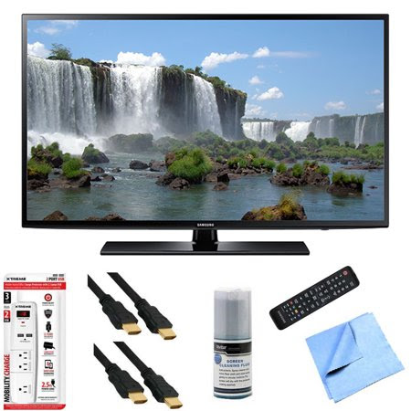 Samsung UN60J6200 - 60-Inch Full HD 1080p 120hz Smart LED HDTV Hook-Up Bundle includes UN60J6200 60-Inch 120hz Full HD 1080p Smart TV, Screen Cleaning Kit, 6' HDMI Cable x 2, 6 Outlet\/2 USB Wall Tap