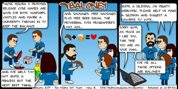 [fedora webcomic: baloney]