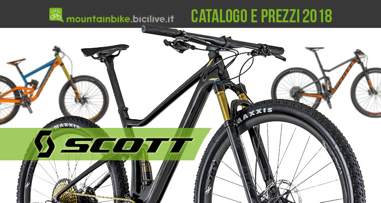 Scott Catalogo E Listino Prezzi 2018 Mountain Bike