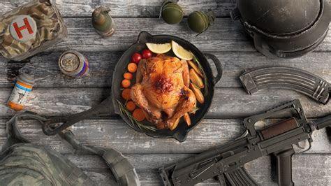 fond decran poulet nature morte aliments arme pubg