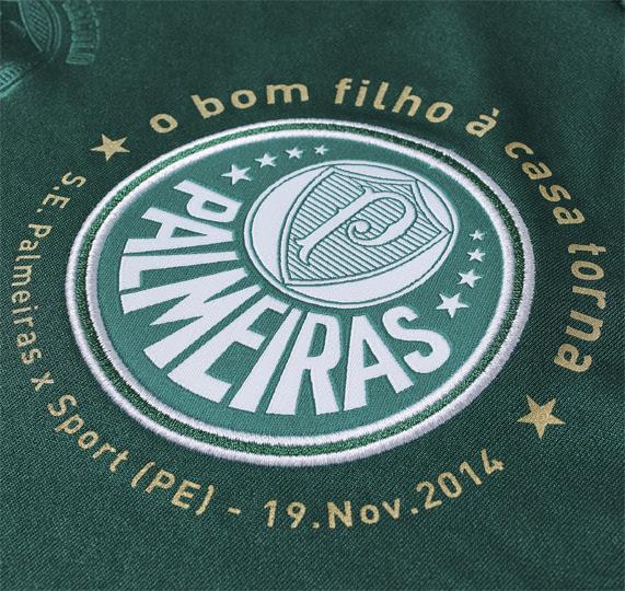 Camisa do Palmeiras contará com inscrição em volta do distintivo