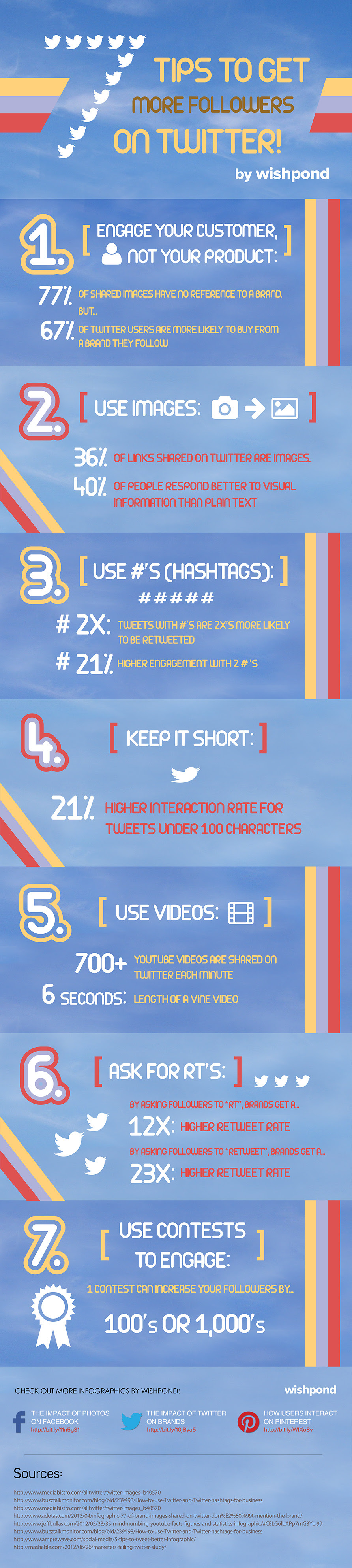 Top 7 Tips to Get More Followers on Twitter infographic