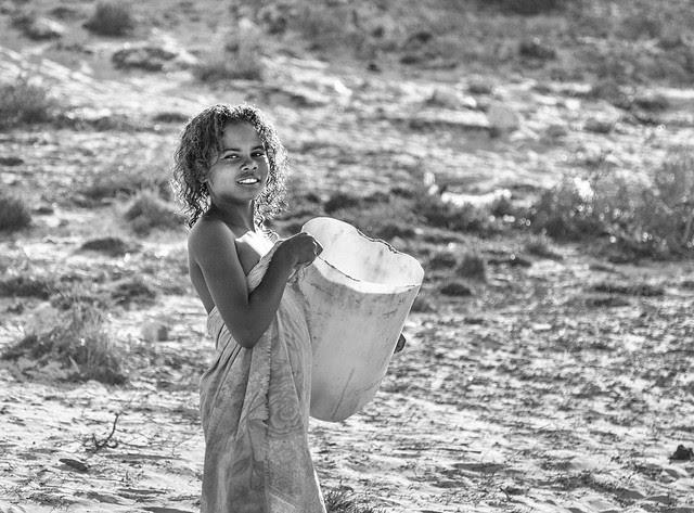 A girl at Salary, Madagascar 2011