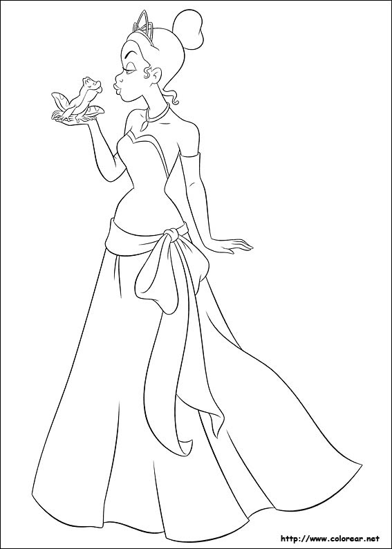Dibujo De La Princesa Y El Sapo Imagui