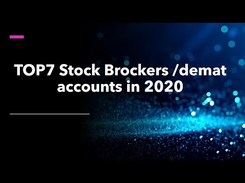 Top 7 Stock Brokers best Demat account in India