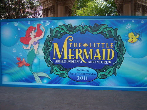 Yay!  Construction is beginning on The Little Mermaid: Ariel's Undersea Adventure opening in 2011!