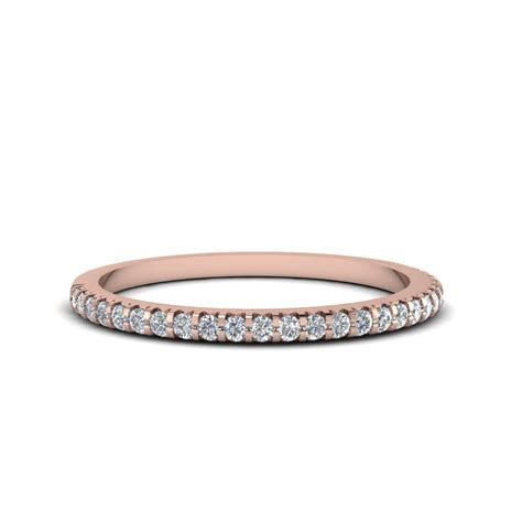 18k Rose Gold Wedding Bands For Women   Fascinating Diamonds