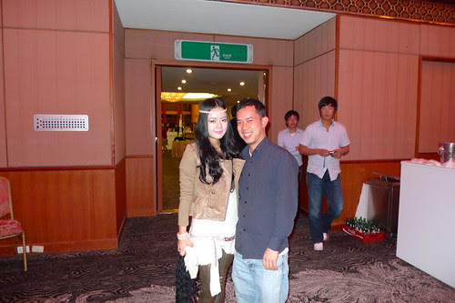 Ming Jin with unidentified hippie chick