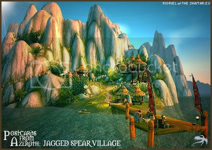Postcards of Azeroth: Jagged Spear Village, by Rioriel of theshatar.eu