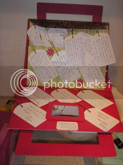 Inside of leaving card