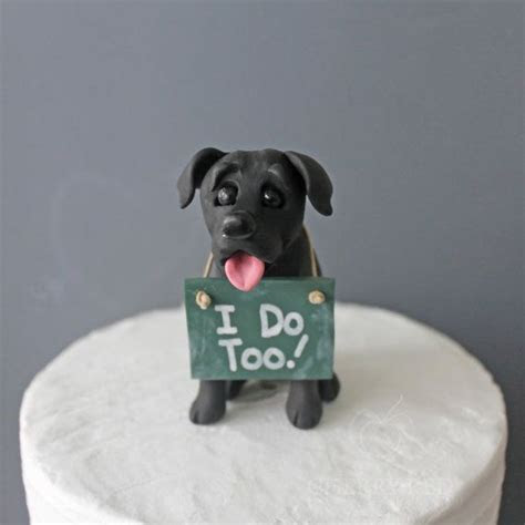 Black Lab Wedding Cake Topper Made To Look by