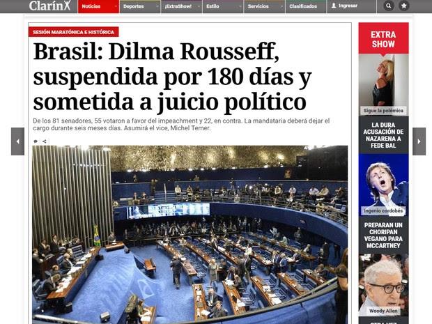 Argentino Clarín afirma que Michel Temer é um homem que sabe se mover nos bastidores do poder (Foto: Reprodução/G1)