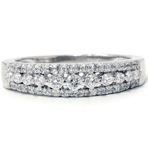 1/4ct Diamond Anniversary Wedding Ring 10K White Gold