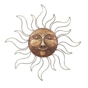 Amazon.com: Sun Face Metal Wall Art Decor Plaque,Indoor, Outdoor ...