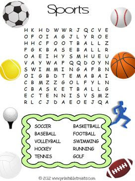 Word searches can develop visual discrimination, figure-ground ...