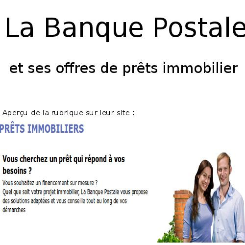 credit bank personnel simulation pret banque postale immobilier. Black Bedroom Furniture Sets. Home Design Ideas