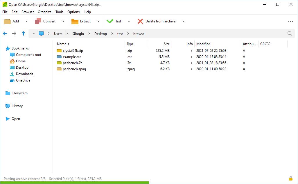 PeaZip 5.1 - Alternatif Winrar