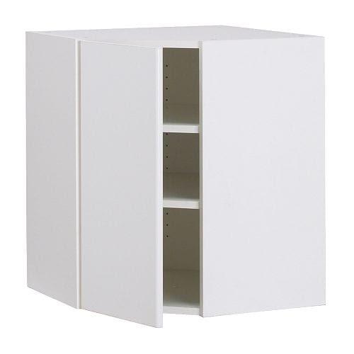 """AKURUM Wall corner cabinet - white, Härlig white, 25x30 """" - IKEA"""
