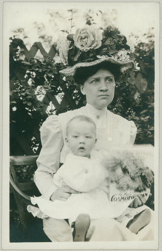 Woman with baby and hat