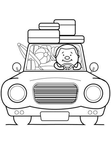 go summer vacation coloring page  free printable