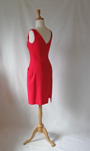 Red DK dress back view