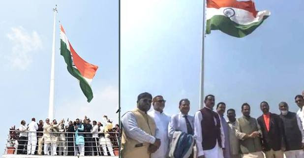 India's highest tricolor unfurled on the terrace of the majestic Haj House