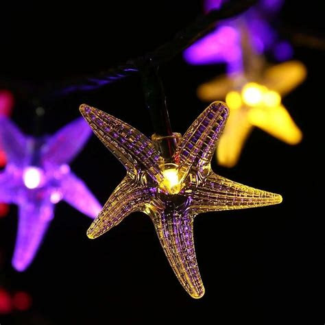 luckled starfish solar string lights ft  led fairy