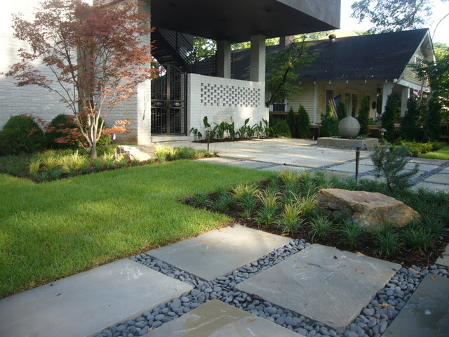Zen Inspired Front Yard