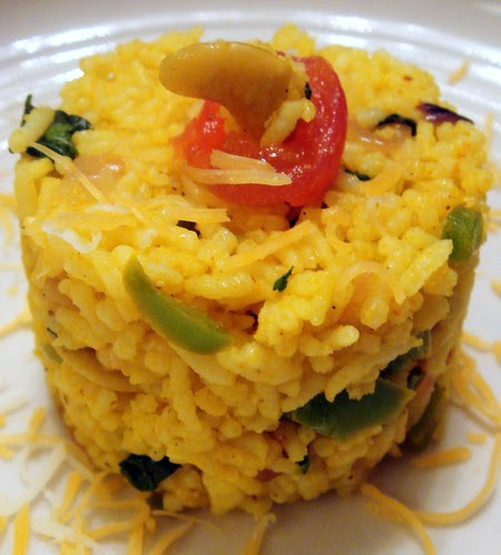 cheese & bell-pepper rice pulao
