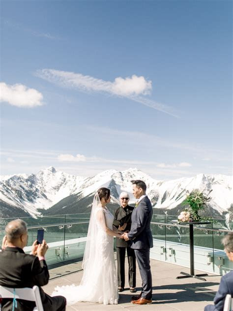 Sky Bistro Banff Gondola Wedding   Banff Wedding Photographers