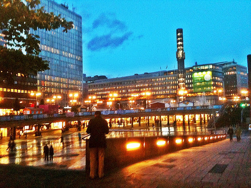 sergels torg evening