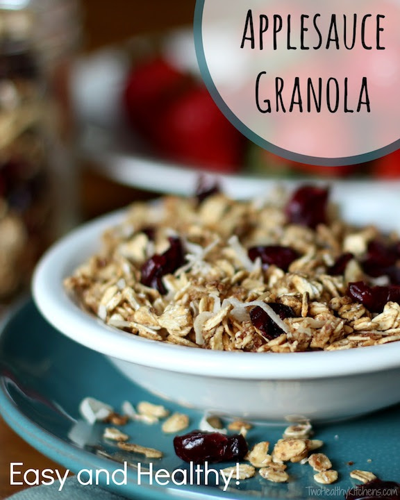 Easy, Healthy Applesauce Granola