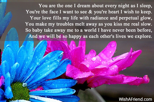 You Are The One Of My Dreams Romantic Poem