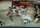 Vídeo mostra correria após lutador de MMA ser baleado (Reprodução)