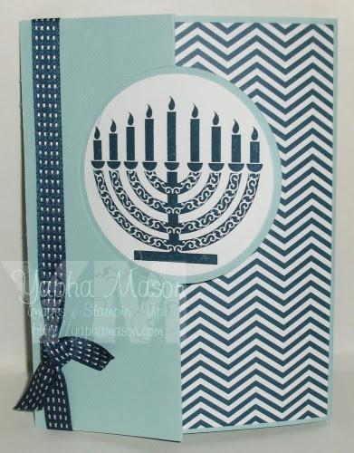 Hanukkah Circle Thinlet Card by Yapha Mason