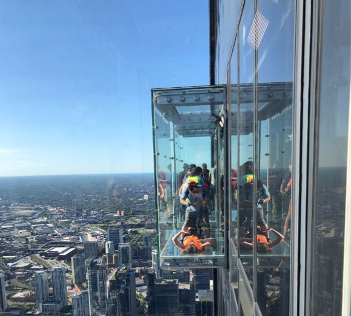 A Glass Skydeck On The 103rd Floor Cracks Under Visitors' Feet