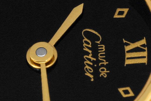 Foto 3, Cartier Colisee Damenuhr Sterling Silber Gold Vermeille, U1620