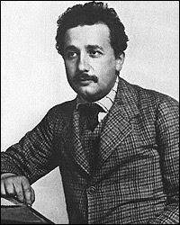 Albert Einstein as a clerk in Bern, Switzerland, 1905.